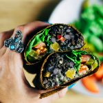 Vegan Wild Rice and Black Beans Burrito