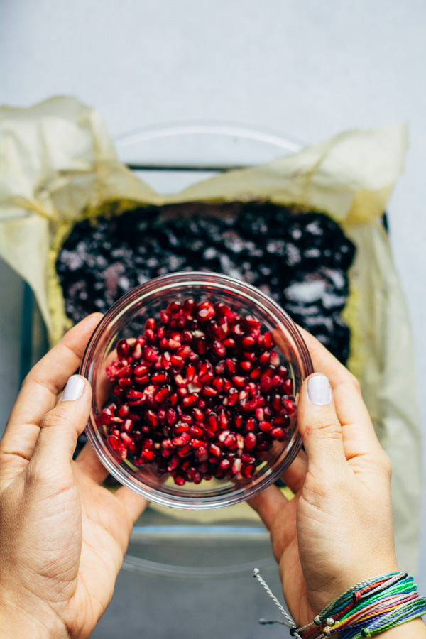 Pomegranate Blueberry Matcha Cake Recipe | SproutingZen.com