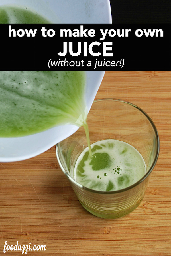 a pour shot of green juice