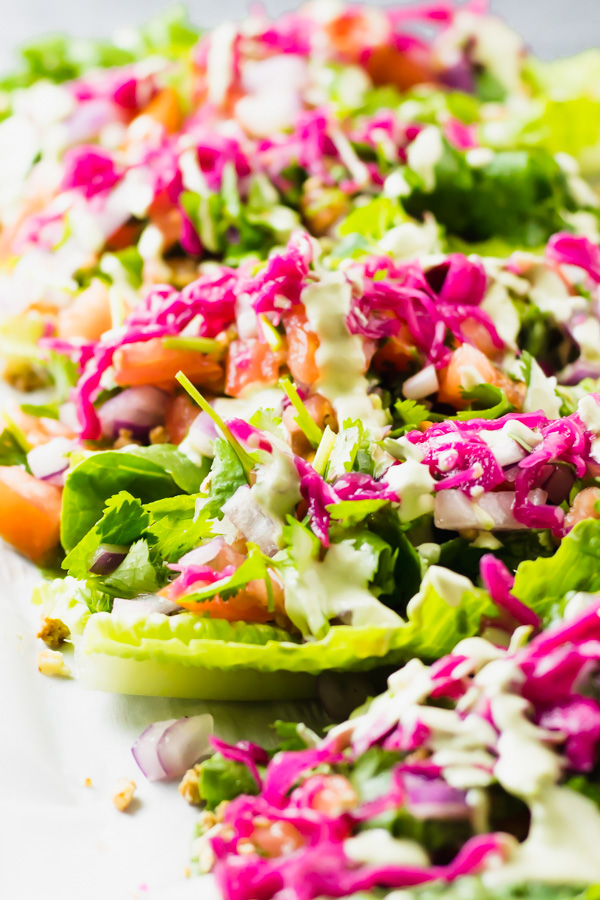 raw vegan romaine lettuce tacos