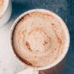 vegan blender hot chocolate in a cup