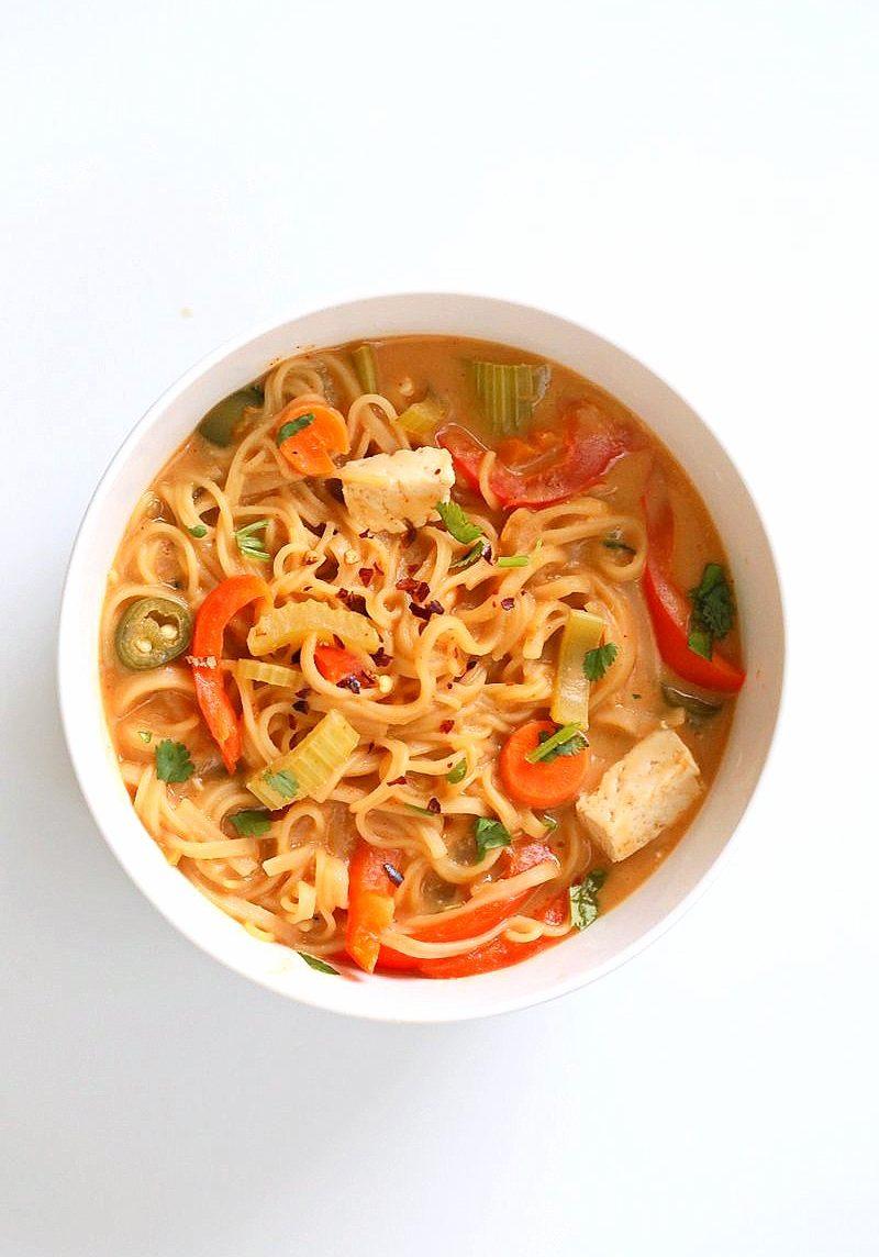 vegan one pot peanut sauce noodles