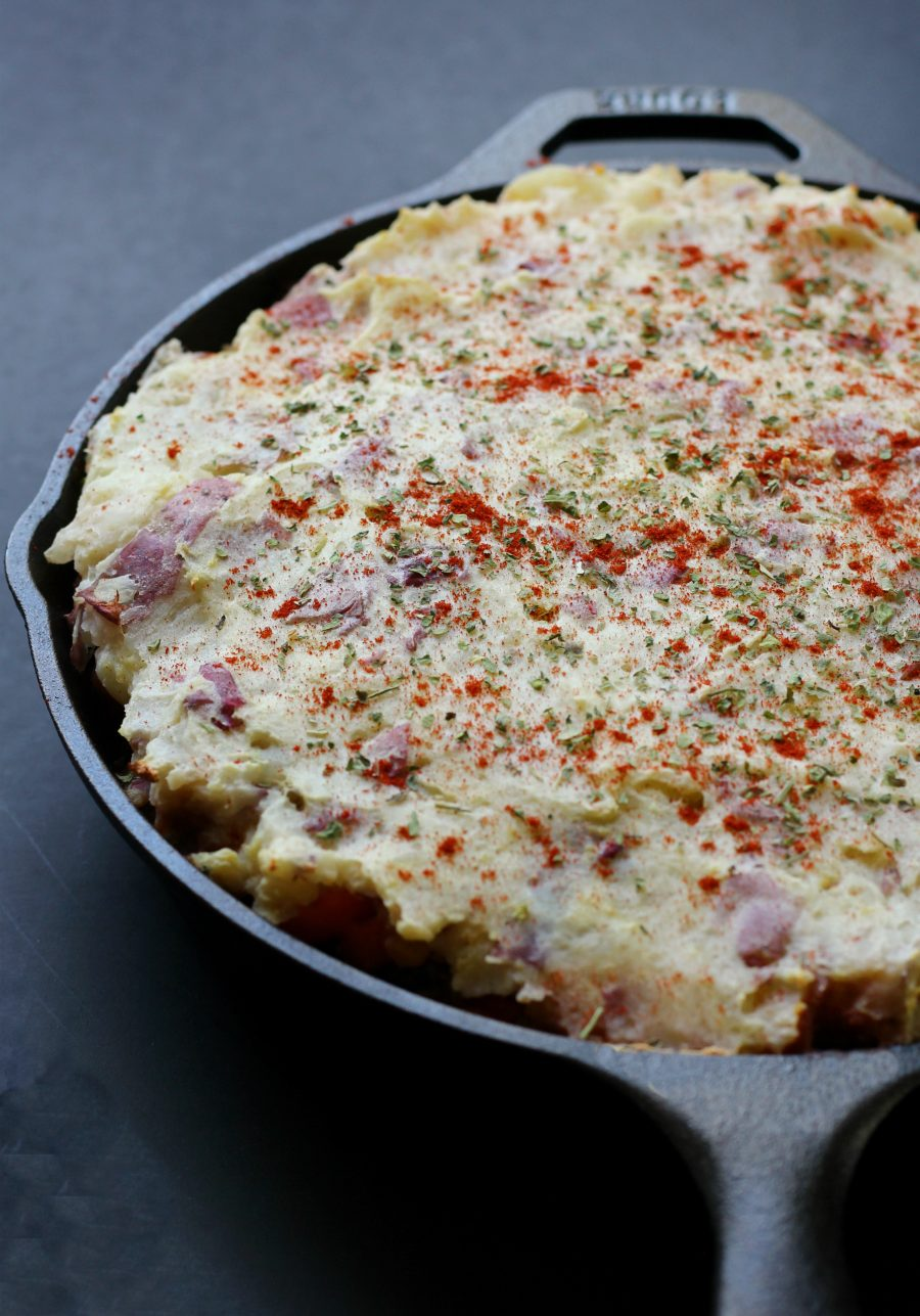 Vegan Rustic Mung Bean Shepherds Pie