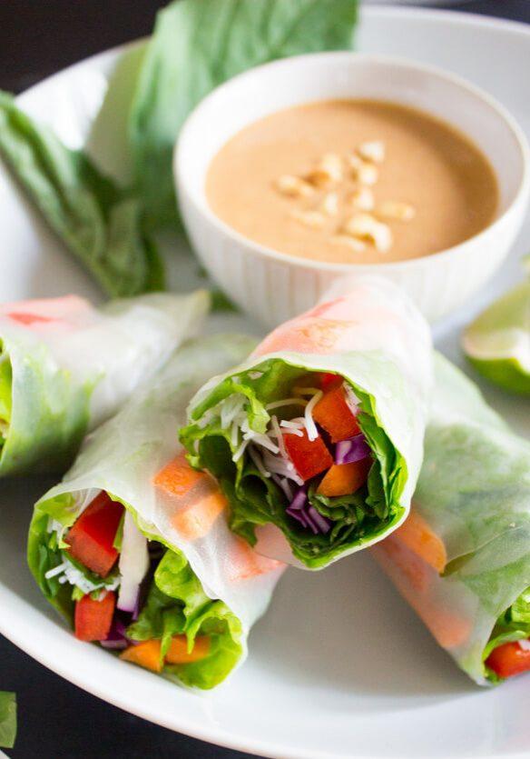 Vegan Salad Spring Rolls