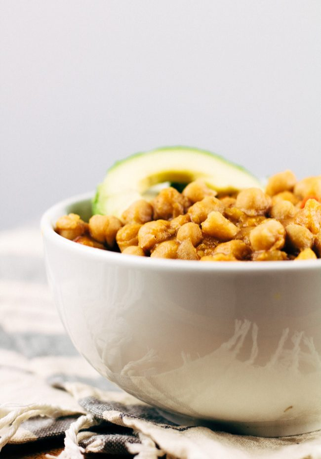 Vegan Garbanzo Bean Soup | SproutingZen.com