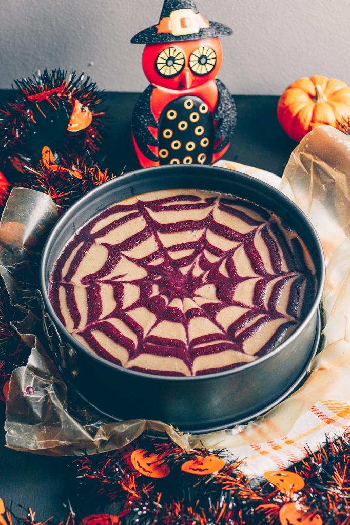 raw vegan halloween inspired pie
