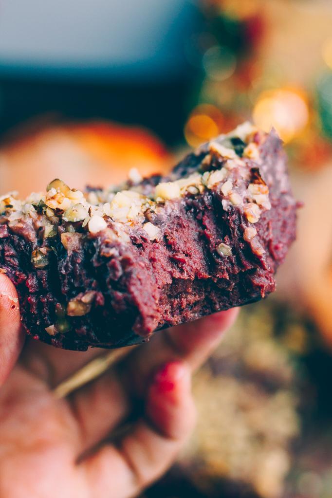 Purple Sweet Potato Brownie (vegan, sugar free, oil free) | SproutingZen.com