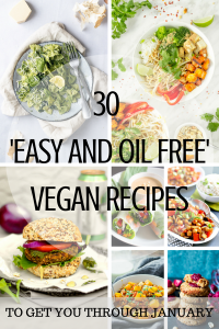 A collage of pictures from the article named 30 easy and oil free vegan recipe