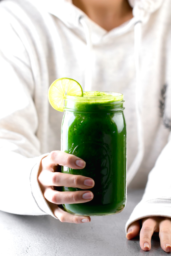 arugula and kale green juice