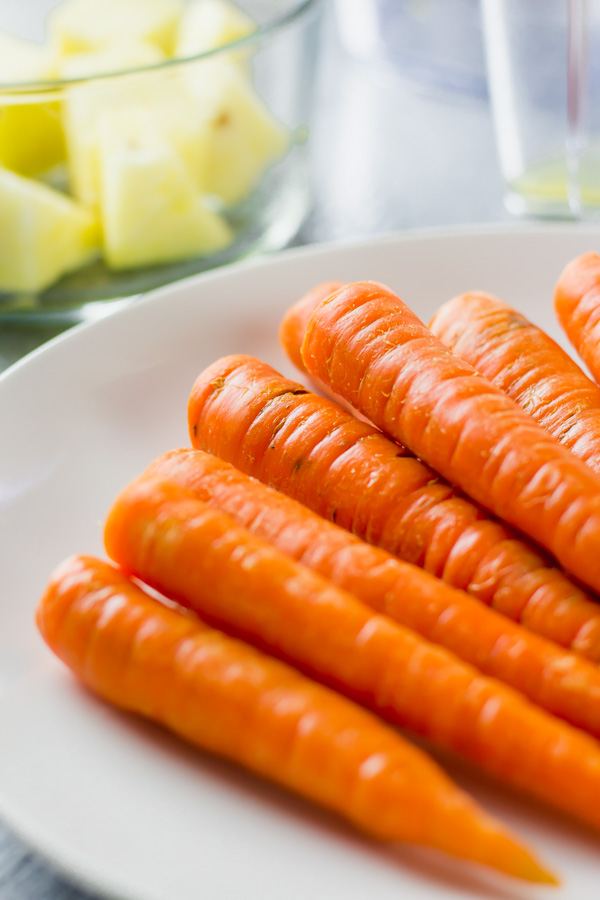 carrots on a plate