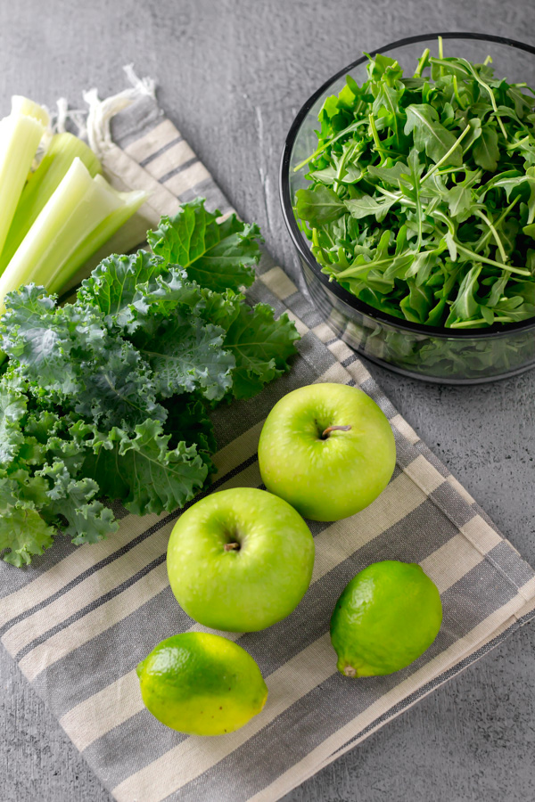 green vegetables laid out on a table