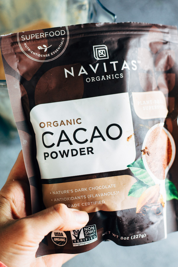 a photo of a cacao powder package