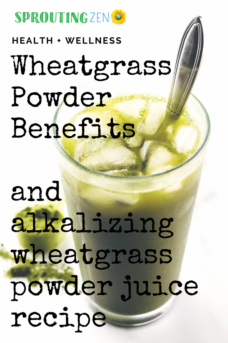 Discover the benefits of including wheatgrass in your diet, plus a bonus alkalizing energy boosting wheatgrass juice recipe! #wheatgrass #vegan #plantbased