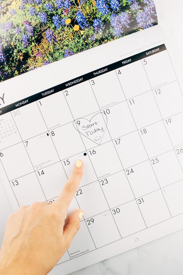 how to go vegan - make the choice calendar