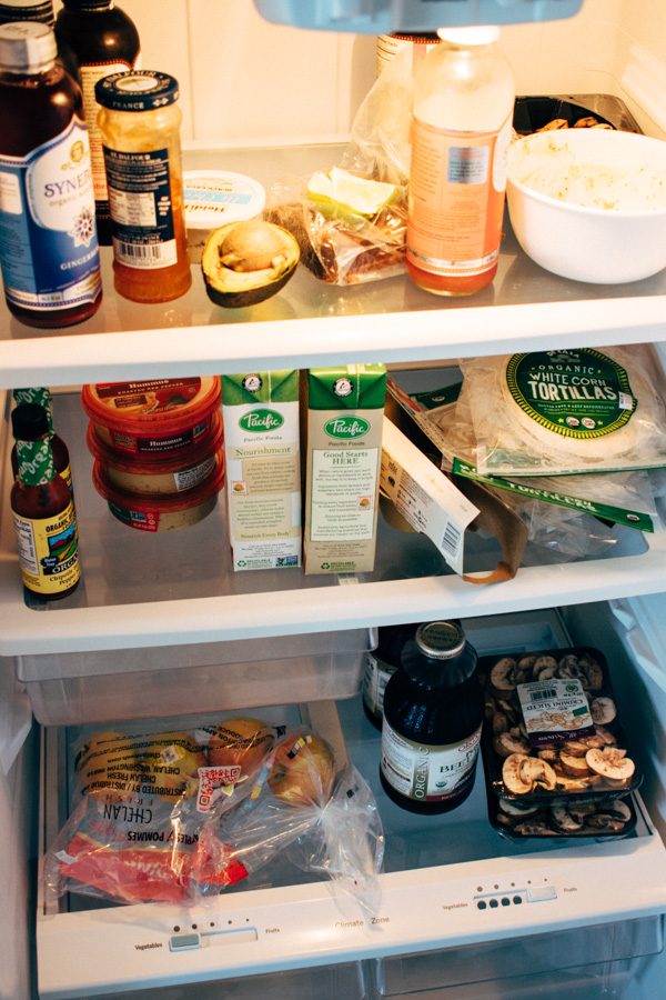 Vegan fridge picture