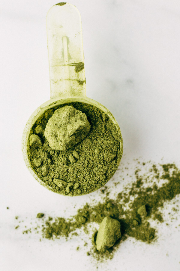 wheatgrass in powder form