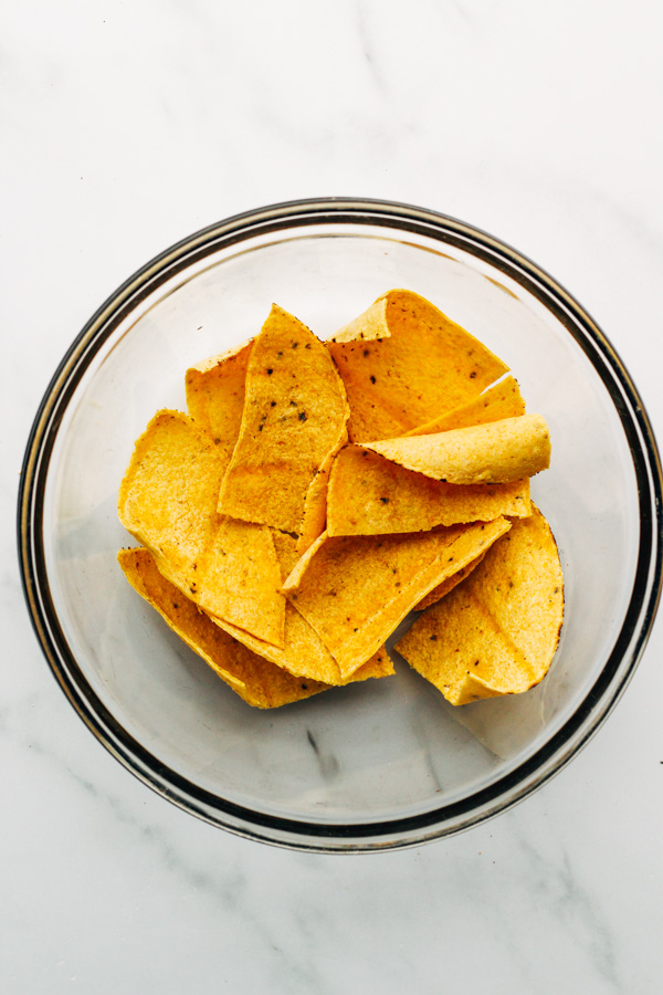 vegan baked tortilla chips