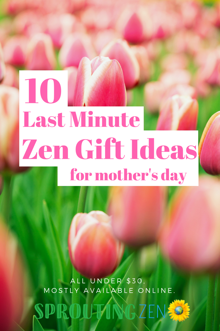 Last Minute Zen-Filled Gift Ideas For Mom #mothersday #mom #giftsformom