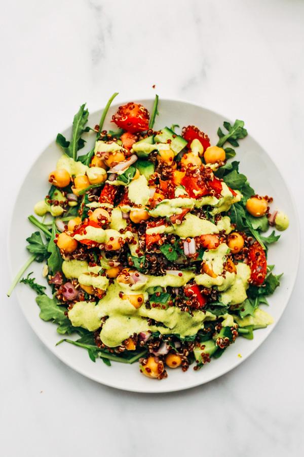 Vegan Quinoa Tabbouleh Summer Salad Recipe Sprouting Zen