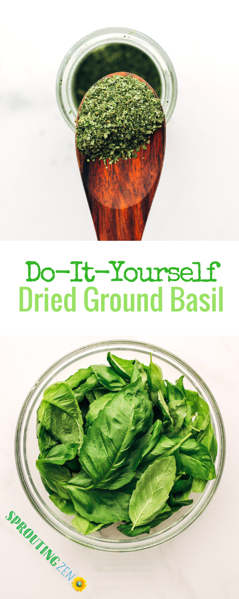 Learn how to make your own dried basil powder using basil from your garden! #homegrown #gardening #vegan #plantbased