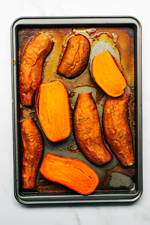 vegan roasted sweet potatoes