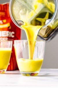 vegan iced golden turmeric milk latte
