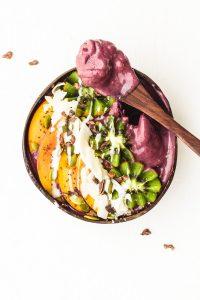 vegan homemade breakfast acai bowl