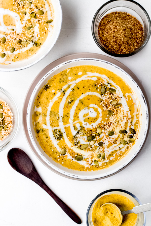 Cheezy Vegan Broccoli Soup Recipe | Sprouting Zen