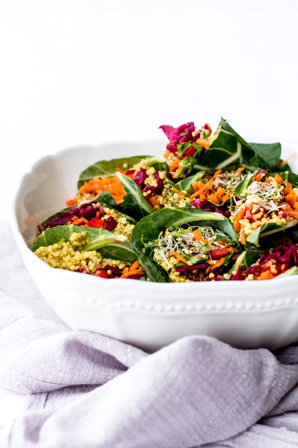 vegan collard wraps curry quinoa