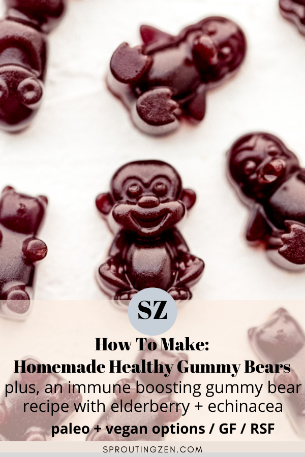 how to make homemade healthy gummy bears | Sprouting Zen