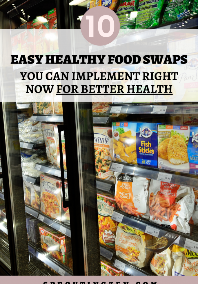 10 EASY HEALTHY FOOD SWAPS