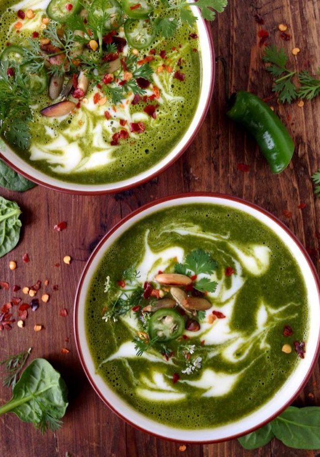 Kale Sweet Potato Soup Vegan