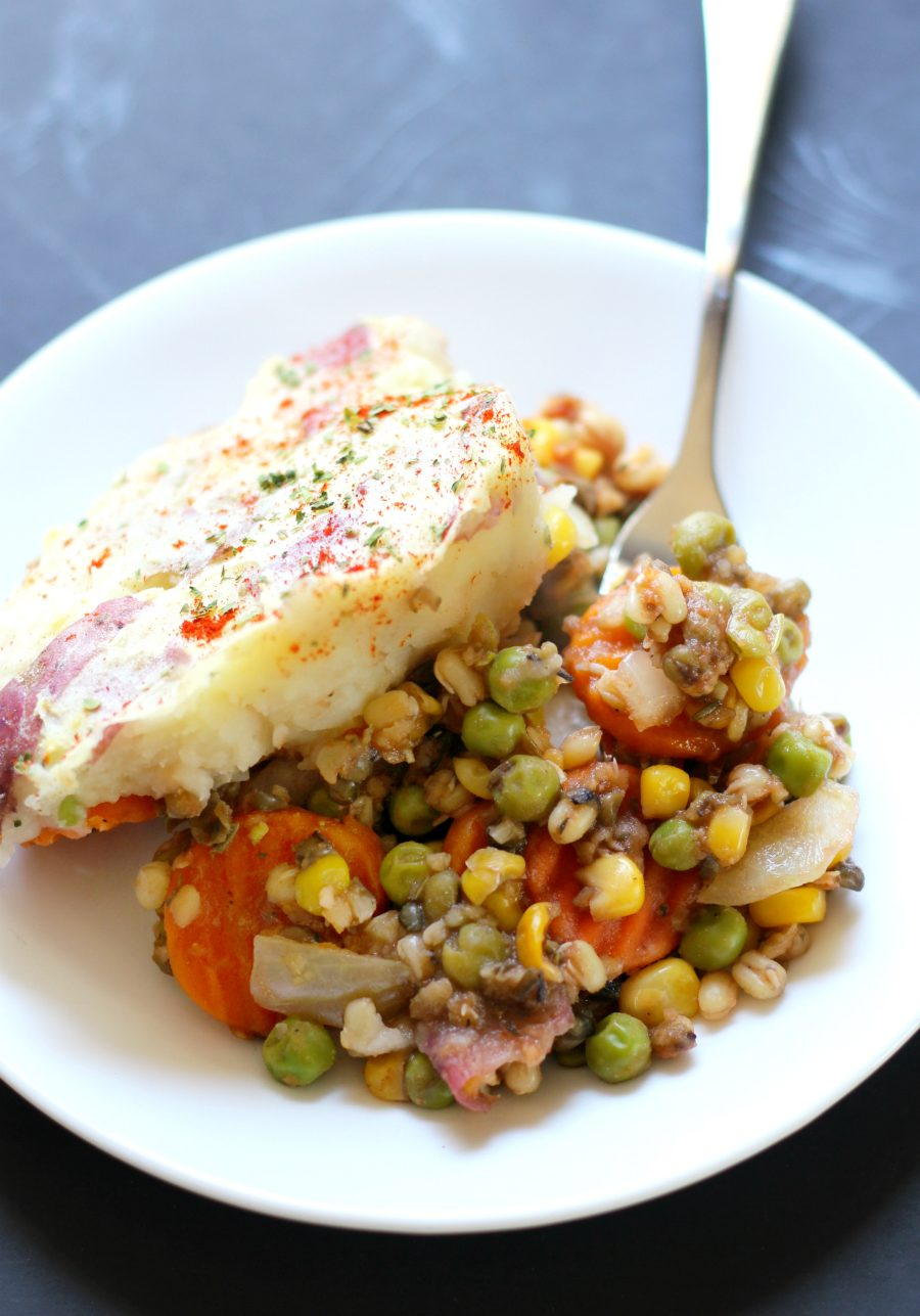 Vegan Rustic Mung Bean Shepherds Pie