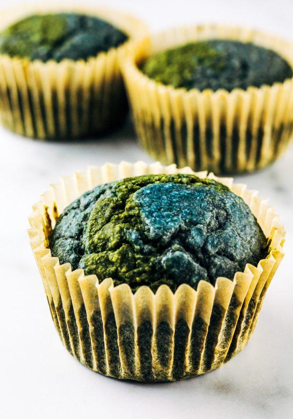 earth day vegan cupcakes