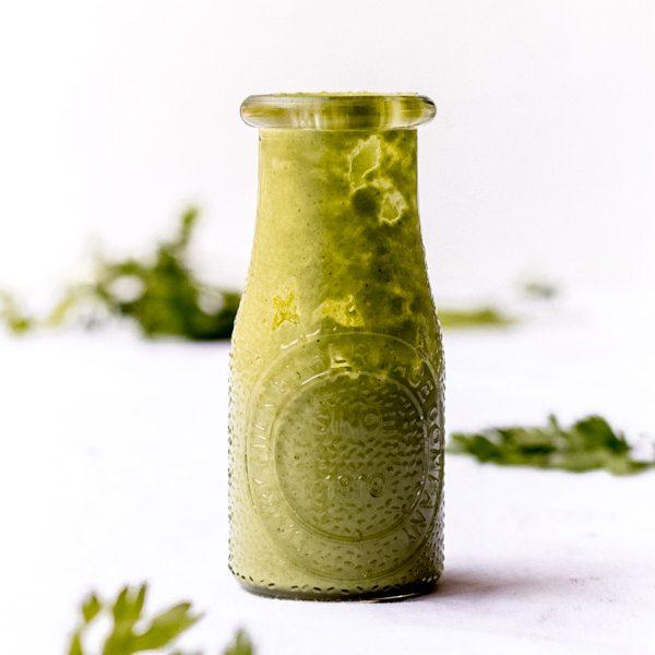 five minute parsley and basil vegan sauce (4 of 4)