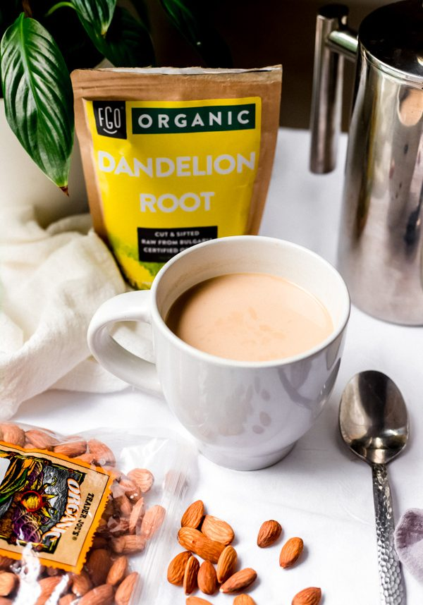 how to make roasted dandelion root tea - a coffee alternative | Sprouting Zen