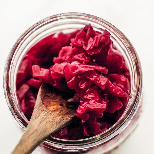 homemade sauerkraut caraway in a mason jar recipe