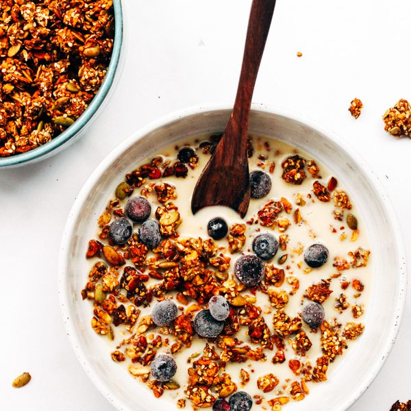 oil free cardamom granola breakfast recipe (5 of 10)