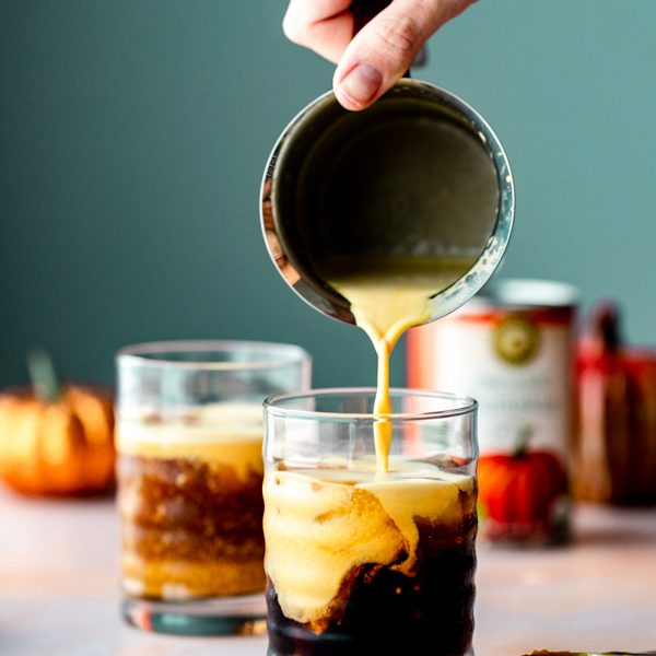 How to make   a healthy vegan homemade pumpkin cream cold brew recipe | Sprouting Zen