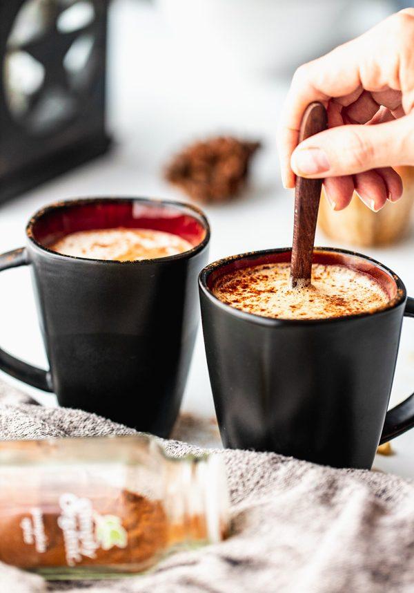 vegan dandelion root tea pumpkin spice latte homemade | Sprouting Zen