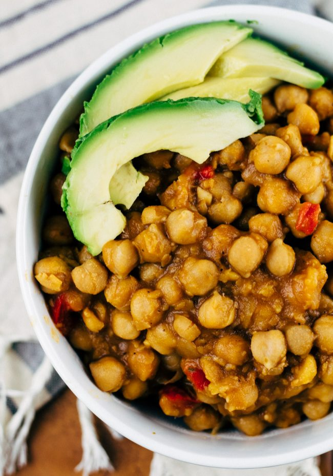 Vegan Garbanzo Bean Soup | SproutingZen.com
