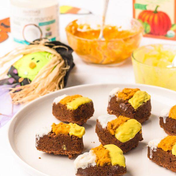 vegan halloween candy corn brownies recipe (7 of 8)