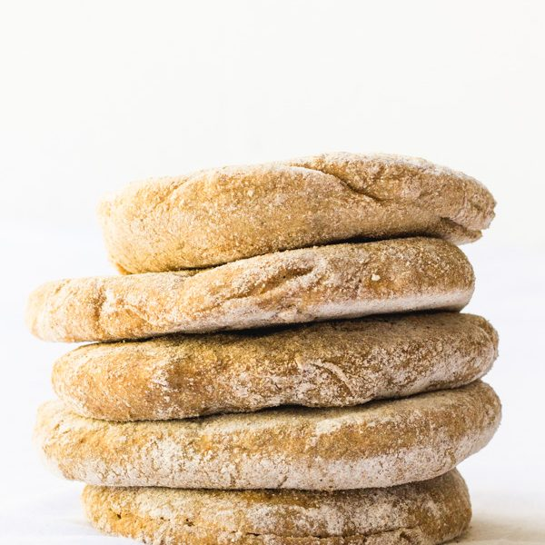 vegan oil free yeast free homemade spelt flour pita bread (7 of 8)