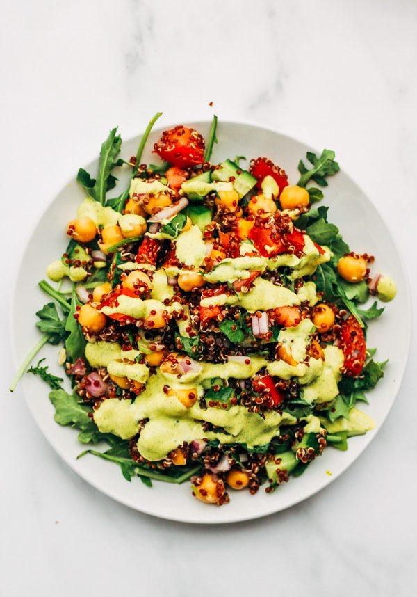 vegan quinoa tabbouleh summer salad recipe (10 of 11)