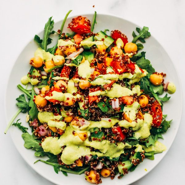 vegan quinoa tabbouleh summer salad recipe (10 of 11)