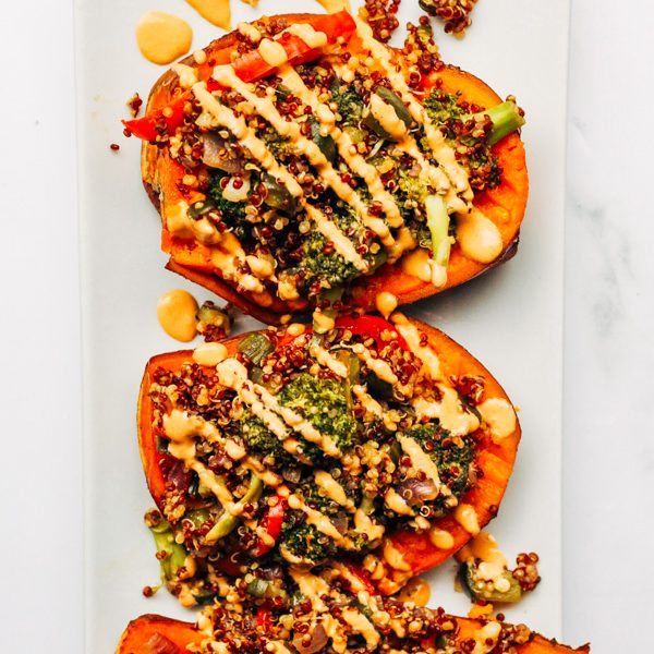 vegan roasted stuffed sweet potato boats with teriyaki stir fry (8 of 9)
