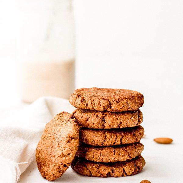 simple vegan almond butter cookies | Sprouting Zen